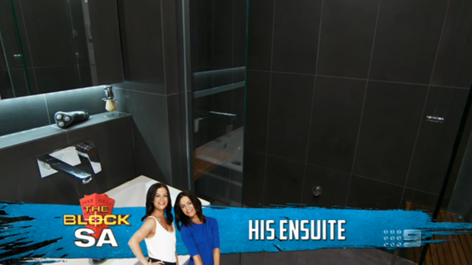 The Block Sky High 2013 Room Reveal 2 – His & Her Bathrooms