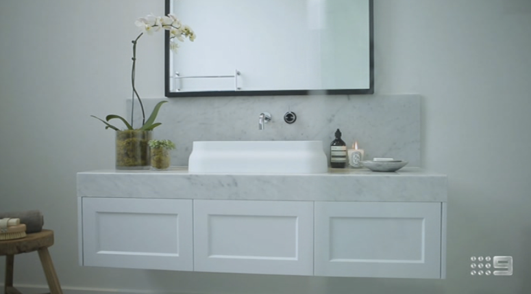 Main bathroom room reveal a perfect 30 30 the block