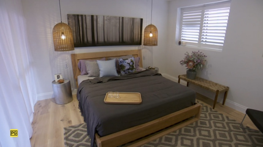 the block 2015 master bedroom dressing room reveals the block 2017